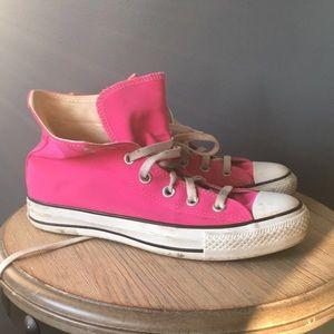 Pink converse high top